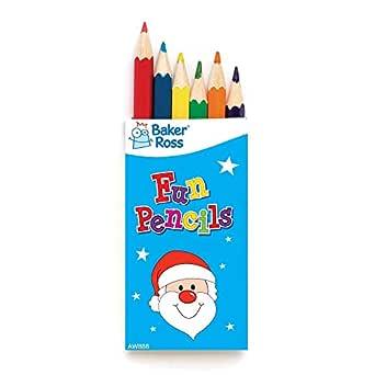 Baker Ross Mini lápices Navideños para colorear (por 6 paquetes) - Artes y manualidades festivas: Amazon.es: Industria, empresas y ciencia