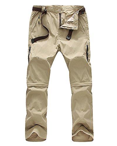 Jessie Kidden Men's Quick Dry Convertible Cargo Pant #9999,Khaki,32 Convertible Zip Off Pant