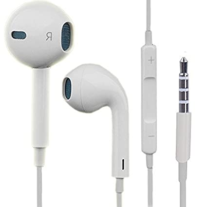 521af6730 Buy Earphones Earpods 3.5mm Jack with Mic for Apple iPhone iPad iPod Online  at Low Prices in India - Amazon.in