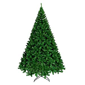 Ariv Green Christmas Tree 7Ft 2.1M Bushy 1680 PVC Tips Sturdy Metal Christmas Tree Stand Frame Base for Family Store Party Christmas Holiday Decoration Ornaments