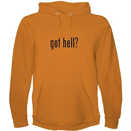 Motel Hell Mask (The Town Butler got Hell? - Men's Hoodie Sweatshirt, Gold,)