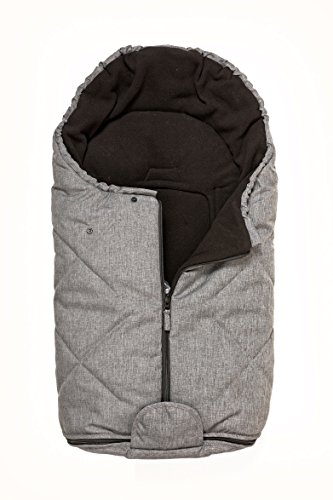 Bozz Artic Grey Melange Universal Thick Fleece Lined Footmuff/Cosytoes/Cosybag that fits all Stage 1 Infant Carrier Car Seats