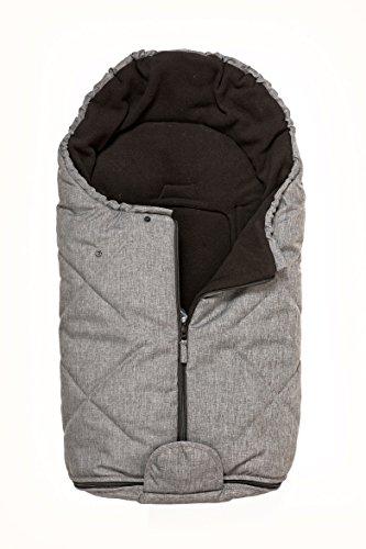 Bozz Artic gris melange Universal de grosor con forro polar saco para cochecito/silla/cosybag que se adapta a todos los etapa 1 Infant Carrier asientos de coche