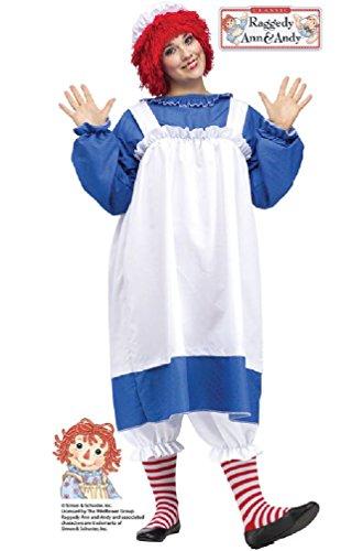8eighteen Rag Doll Raggedy Ann Plus Size Costume (Gothic Rag Doll Costume Plus Size)