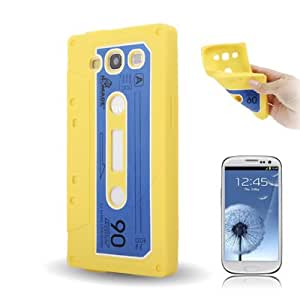 DapurMu - Tape Shape TPU Protective Case for Samsung Galaxy SIII / i9300 (Yellow)
