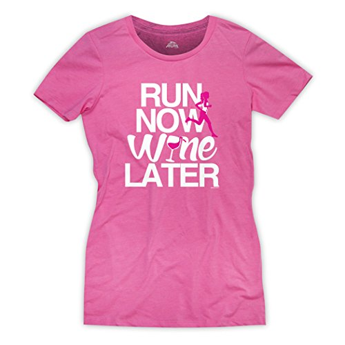 Singlet Dri Mesh Fit - Gone For a Run Run Now Wine Later Women's T-Shirt | Runners Tees by Hot Pink | Adult Large
