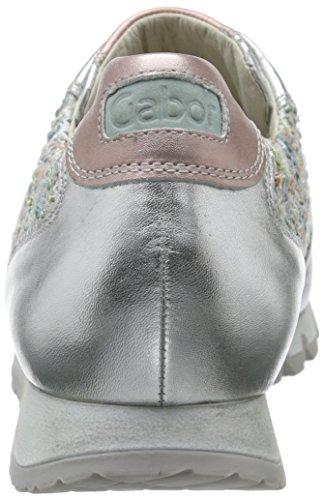 Cielo Gabor Mujer Para Shoes Plateado Zapatillas silber Kombi 30 wttYr6q