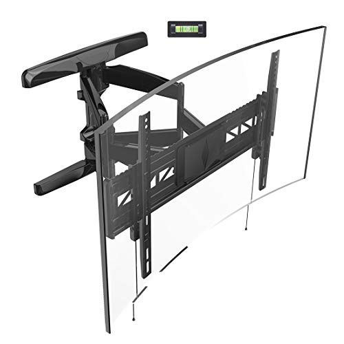 Loctek Curved TV Wall Mount Bracket for 32-70 inch Articulating Full Motion Tilt Swivel Flat and Curved Screen TV