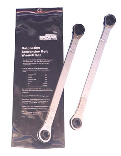 Kastar 8584 2 Piece Ratcheting Serpentine Belt Wrench Set