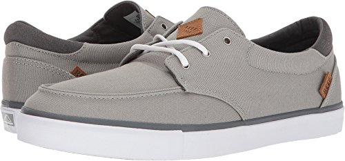 REEF Deckhand 3 | Premium Shoes for Men with Classic Styling for Street, Skate, or Surf Sneaker, Grey/White, 11 M US