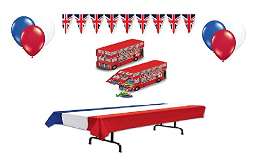 British (Union Jack) Decorations (Party Supplies) by (British Party Decorations)
