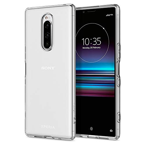 Spigen Liquid Crystal Designed for Sony Xperia 1 Case (2019) - Crystal Clear (Best Xperia Phone 2019)