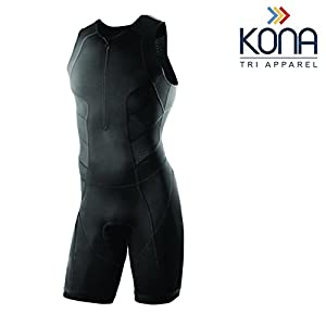 Kona Men's Triathlon Race Suit – Speedsuit Skinsuit Trisuit Sleeveless