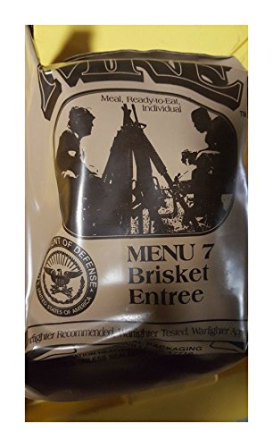 (Andrews Corner MRE Meals Survival Food 2019 US MILITARY MEALS READY TO EAT Meal Prepper Food (Beef Brisket - Meal)