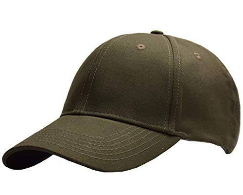 Beurlike Ponytail Baseball Cap High Bun Ponycap Adjustable Mesh Trucker Hats (Cotton - Army Green)
