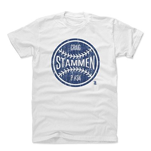500 LEVEL Craig Stammen Cotton Shirt Small White - San Diego Baseball Men's Apparel - Craig Stammen San Diego Ball B ()