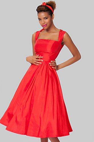 SEXYHER Damen 1950 Vintage Style klassische verkleiden - RBJW1434(ChilliRed,UK22)