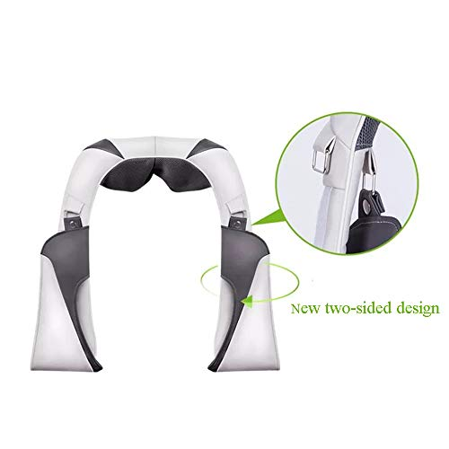 GAOQQ Shiatsu Back Neck and Shoulder Massager with Heat - Deep Tissue Cervical Spine Kneading Multi-Function Massager for Office Home Car Use by GAOQQ (Image #3)
