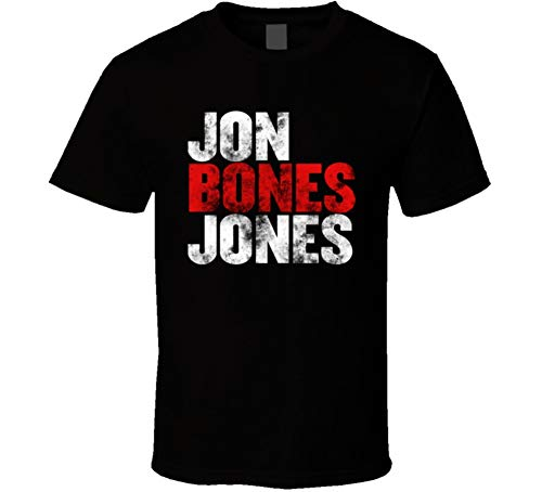 Jon Bones Jones MMA Fighter Fan T Shirt L Black