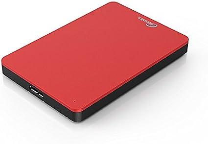 Sonnics 500GB Rojo Disco duro externo portátil de Velocidad de ...