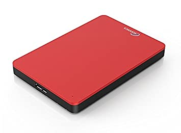 Sonnics 320GB Rojo Disco duro externo portátil de Velocidad de transferencia ultrarrápida USB 3.0 para PC Windows, Apple Mac, Smart TV, XBOX ONE y PS4: ...