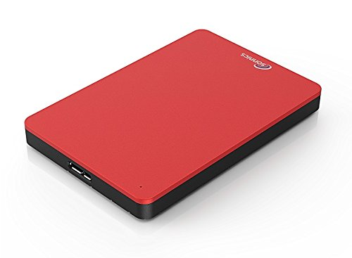 Sonnics 640GB Red External pocket Hard drive USB 3.0 super fast transfer speed for use with Windows PC, Apple Mac, XBOX ONE and PS4