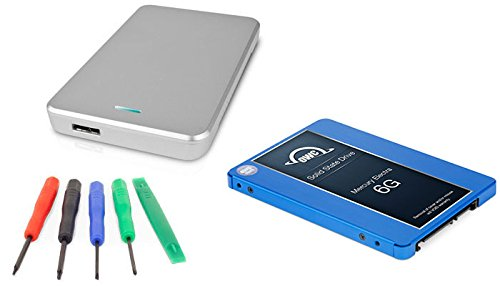 OWC 1.0TB Mercury Electra 6G SSD 7mm, 2.5'' USB 3.0 Express Enclosure Kit (Silver) DIY Drive Upgrade Install Kit For Mac or PC by OWC