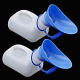 NUOMI Mobile Toilets Portable Urinals Unisex Emergency Potties for Camping Hiking 1000ML Outdoor Urinal Accessories for Adults 2 Pieces