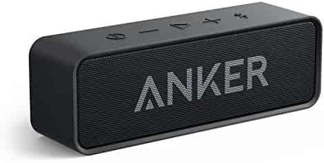 Anker Soundcore Bluetooth Speaker with Loud Stereo Sound, Rich Bass, 24-Hour Playtime, 66 ft Bluetooth Range, Built-In Mic. Perfect Portable Wireless Speaker for iPhone, Samsung and more