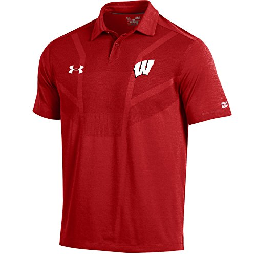 NCAA Wisconsin Badgers Men's Sideline Tour Coaches Polo, X-Large, (Coaches Sideline Polo)