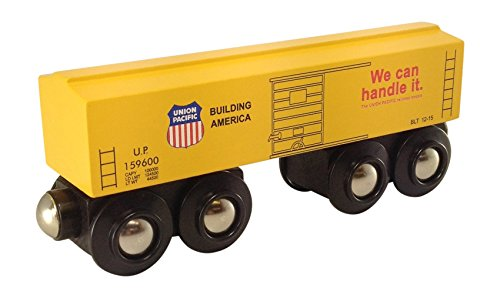 Choo Choo Track & Toy Co. Union Pacific Yellow Boxcar Magnetic Wooden Train ()