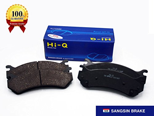 Gmc Truck Pedal Pads (Sangsin Hi-Q Premium Ceramic Brake Pads SP1298(D785)–Superior Performance, Low Dust, Low Noise, Constant Quality Pads For GMC Truck Chevrolet Cadillac)