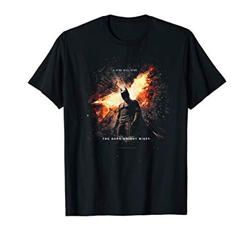 Batman Dark Knight Rises Fire Will Rise T Shirt