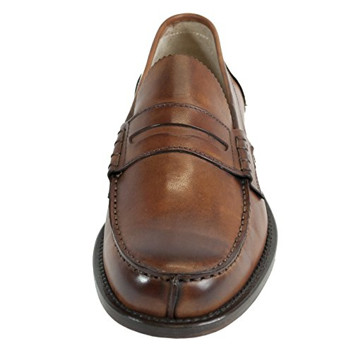 Saxone Of Scotland Mocassino 999 Cuoio Anticato Leather Sole
