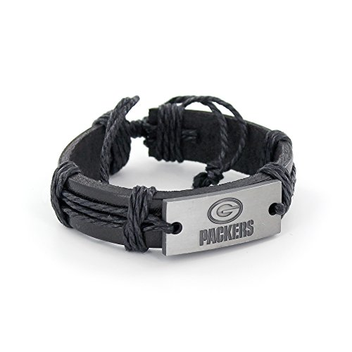 Mens Nfl Jewelry - NFL Green Bay Packers Vintage Leather Bracelet