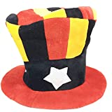 Blancho Bedding Fancy Dress Hat Jester Hat Fun Multi-Color Halloween Party Costumes,Clown Hat#4