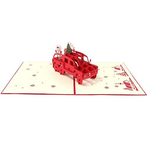 Holiday Blessing Birthday Tarjeta Conmemorativa de Navidad Crafts Dosige Creative Stereo Greeting Card uno para la Venta