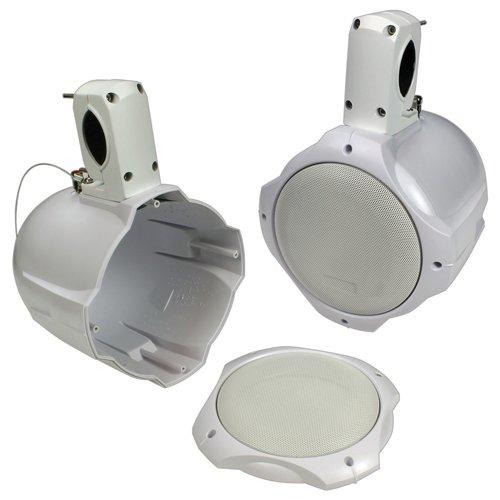 Q Power QPTS65W EMPTY Marine-Tower Speakers, (Marine Pod)