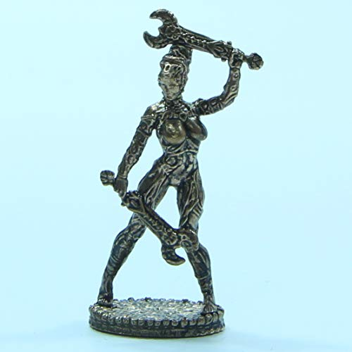 CTOC Woman Warrior with Two Swords Bronze Statuette Fantasy Miniature 40 mm Collection Figurine Metal Toy Soldier Series Space Amazons pit6 ()