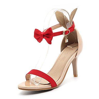 LvYuan Mujer-Tacón Stiletto-Otro Zapatos del club-Sandalias-Boda Vestido Fiesta y Noche-Semicuero-Negro Rojo Blanco Black