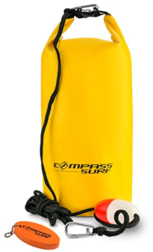 Compass Surf XL Sand Anchor Kit for Kayaks, Jet Skis, and Boats. Includes 15 feet of Marine Grade Rope, Buoy, Stainless Steel Clip, and Keychain Float. (Sand Anchor Pwc)