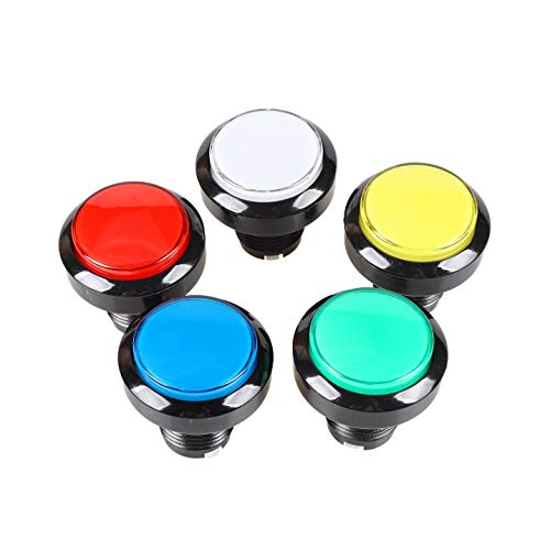 EG STARTS 5X 45mm LED Arcade Buttons Switch for Arcade Coin Operated Games Video Game Machine Parts & Accessories (Each Color of 1)