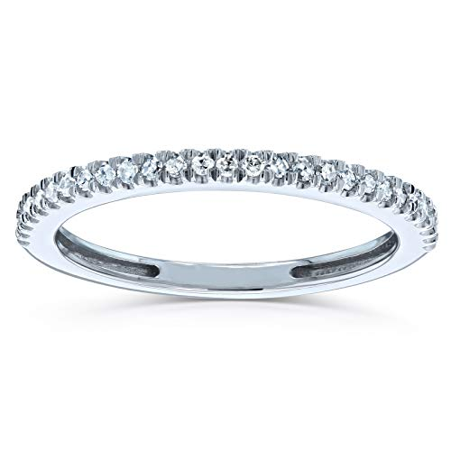 Diamond Wedding Band Pave Setting 1/7 CTW 14k White Gold, ()
