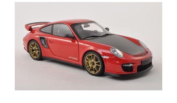 Porsche 911 GT2 RS (997 II), rojo/Carbon con dorado aros para llantas , 2011, Modelo de Auto, modello completo, Minichamps 1:18: Amazon.es: Juguetes y ...