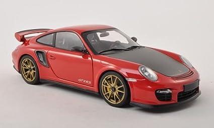 Porsche 911 GT2 RS (997 II), rojo/Carbon con dorado aros para