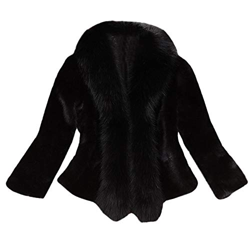 Suede Faux Basso Dennis (Gorgeous Coat,KIKOY Womens Long Section Of Faux Mink Fox With Cap Fur Jackets)