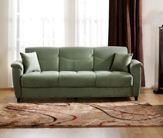 Aspen Rainbow Sage Convertible Sofa Bed by Sunset