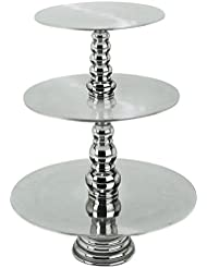 Cupcake Stand Or Cake Stand A 3 Tier Cake Stand Is A Beautiful Cupcake Tower Or Cake Display Magnificently This Silver Cake Stand Detaches To Convert To A 2 Tier Or 1 Tier Cake Stand Made Of Sturdy Aluminum Useful Addition To Your Cake Supplies