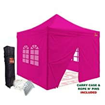 Outlet Tags Canopy - 10ftX10ft with 4pc WALLS Pop-Up Tent for Vendors, BBQ, Sun Shelter, Sports Teams, Outdoor Events