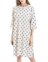 Smallshow Women's Cotton Nursing Nightgown Lounge Dress